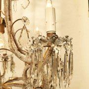 lampadario in cristallo e perline a nove luci d