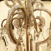lampadario in cristallo e perline a nove luci e