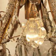 lampadario in cristallo e perline a nove luci f