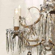 lampadario in cristallo e perline a nove luci g