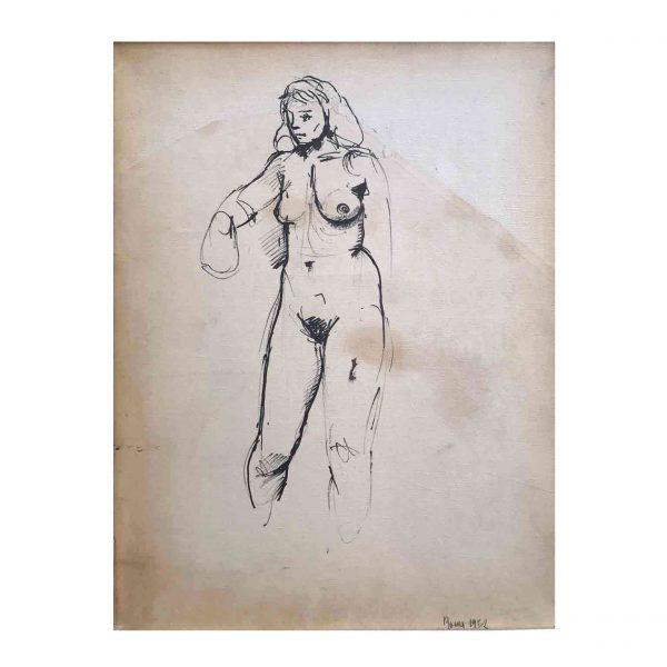 Renato Guttuso Nudo di Donna Roma 1952
