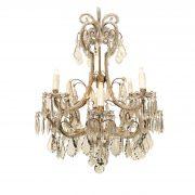 lampadario in cristallo e perline a nove luci