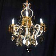 lampadario-in-cristallo-trasparente-e-ambra