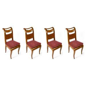 quattro sedie direttorio in acero 1800