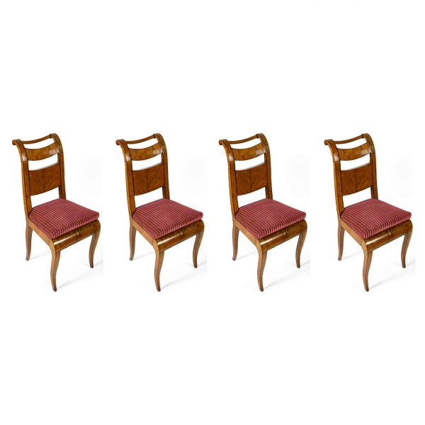 Four 19th Century Directoire Italian Chairs from Genoa