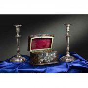 tea caddy scatola regency in tartaruga q
