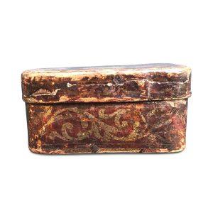 scatola antica argentata 1700
