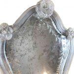 quattro appliques in vetro di murano con specchio molato e