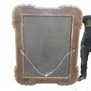 grande specchiera dorata con vetro al mercurio b