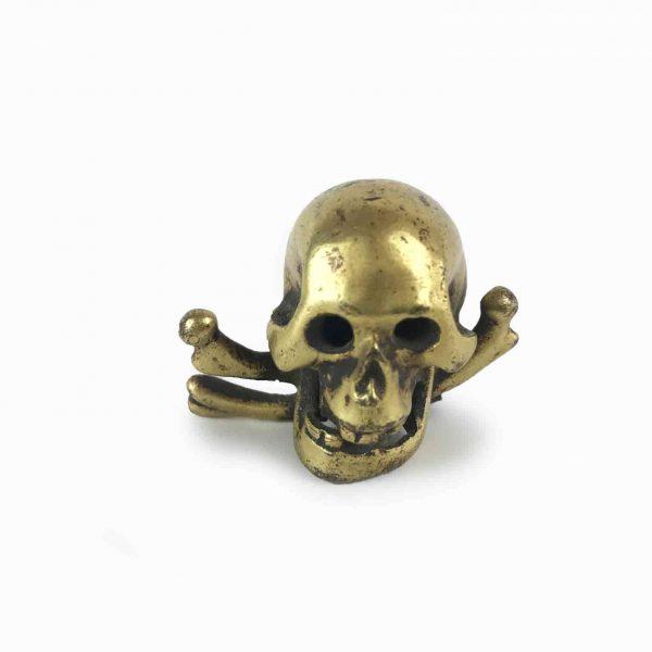 18th Century Italian Gilded Bronze Skull