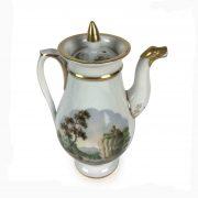 servizio da thé in porcellana decorata d