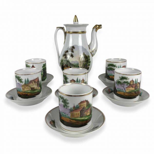 Servizio da Thé in Porcellana Decorata 1800