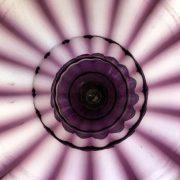 vaso da fiori in vetro soffiato color malva b