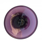 vaso da fiori in vetro soffiato color malva e