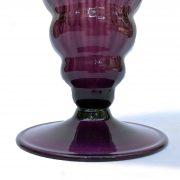 vaso da fiori in vetro soffiato color malva f