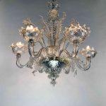 Lampadario in vetro soffiato di Murano 10