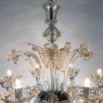 Lampadario in vetro soffiato di Murano 14