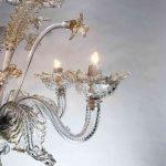 Lampadario in vetro soffiato di Murano 16