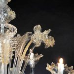 Lampadario in vetro soffiato di Murano 2