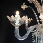 Lampadario in vetro soffiato di Murano 3