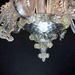 Lampadario in vetro soffiato di Murano 4
