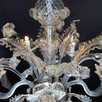 Lampadario in vetro soffiato di Murano 5