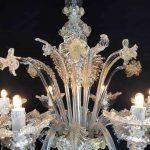 Lampadario in vetro soffiato di Murano 8