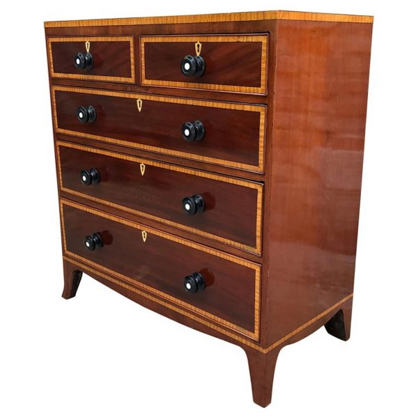 Antique Victorian Mahogany Chest of Drawers 1870s