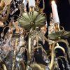 lampadario francese fine 1800 in cristallo h