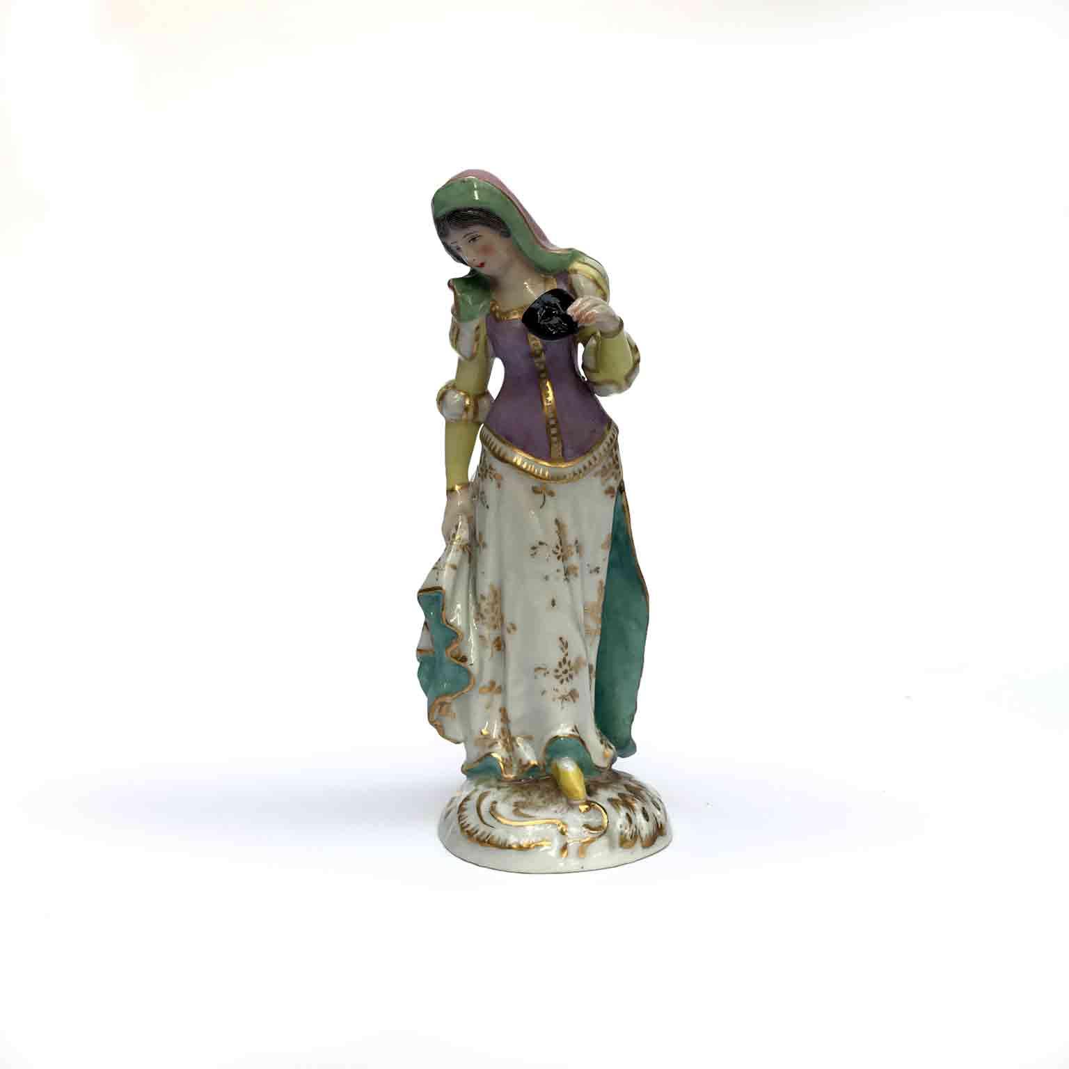 statuina in porcellana vecchia parigi