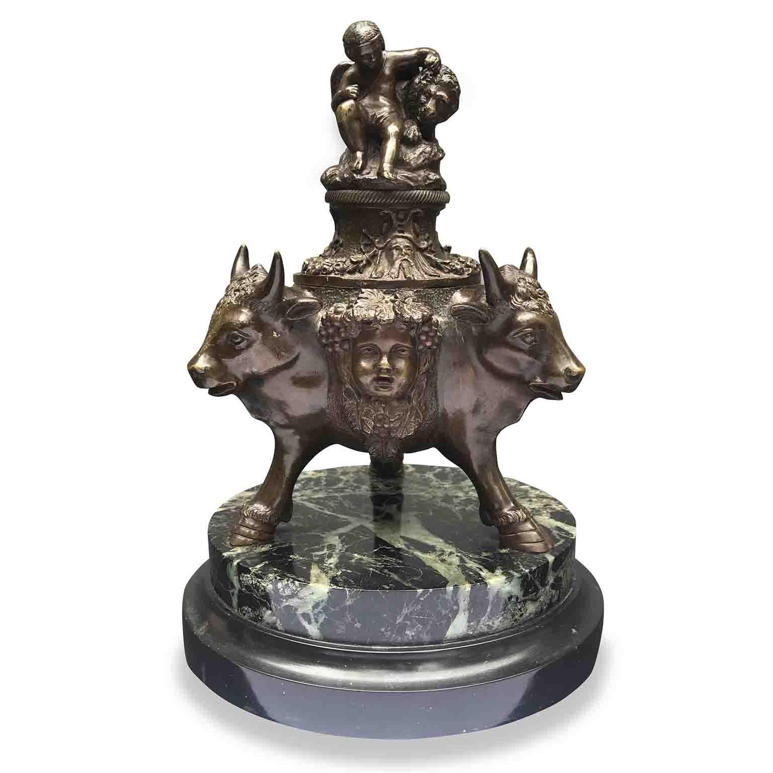 calamaio in bronzo primi 1900