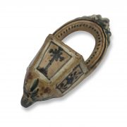 acquasantiera in ceramica decorata b