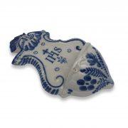 acquasantiera d'epoca in ceramica d