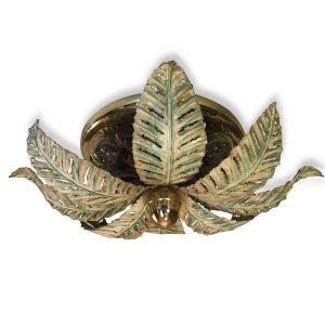 plafoniera foglie di felce otto luci