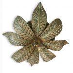 plafoniera foglie di felce otto luci a
