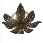 plafoniera foglie di felce otto luci d