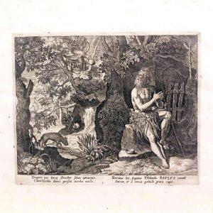 Sadeler incisione al bulino del 1598