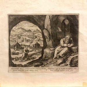 san teoctisto igumeno incisione di sadeler in venezia 1598