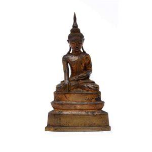 buddha birmano in bronzo