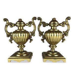 coppia di vasetti dorati antichi