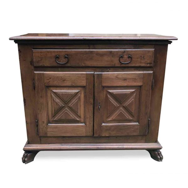 17th Century Italian Sideboard Hand-Carved Walnut Credenza or Buffet