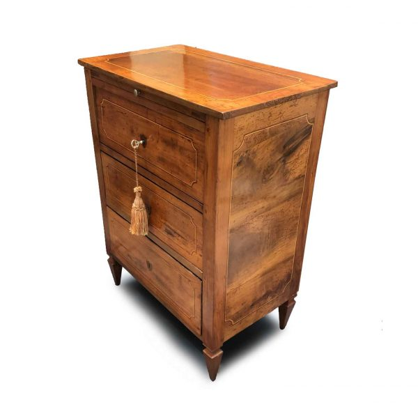 19th Century Louis XVI Italian Small Chest of Drawers or Bedside Table
