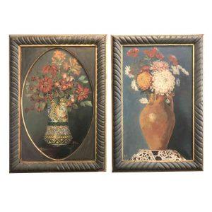 riccardo ricci pendant di nature morte di fiori