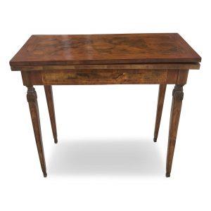 tavolo da gioco lastronato in radica