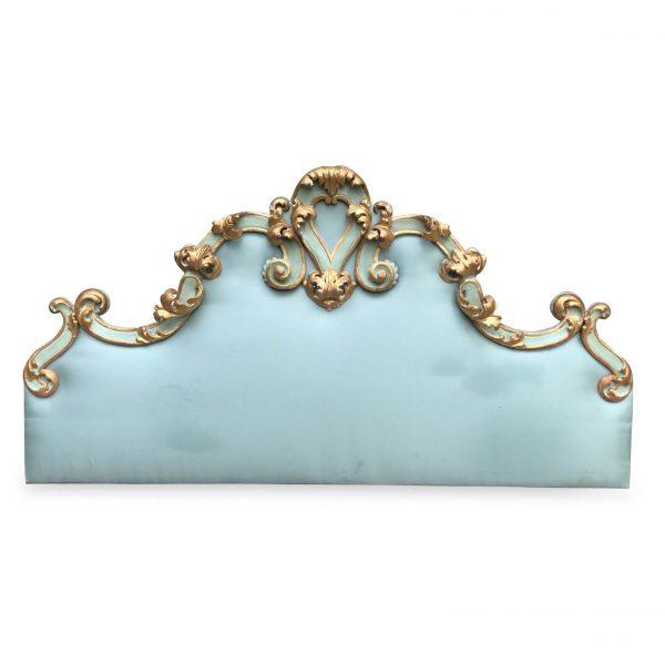 20th Century Italian Baroque Style Giltwood Headboard
