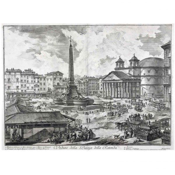 Veduta della Piazza della Rotonda Giovanbattista Piranesi