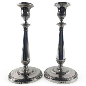 coppia candelieri antichi argento venezia