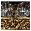 grande plafoniera in bronzo e cristallo f