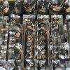 grande plafoniera in bronzo e cristallo g