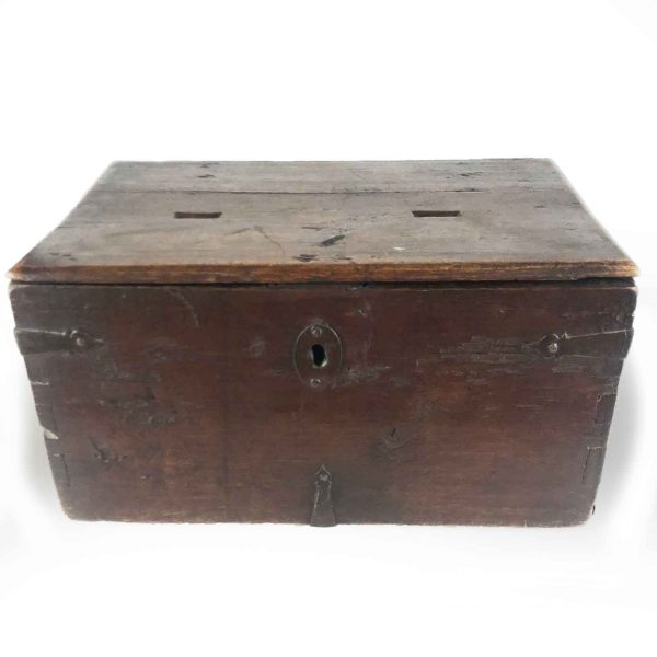 Early 18th Century Italian Walnut Double Almsgiver Box